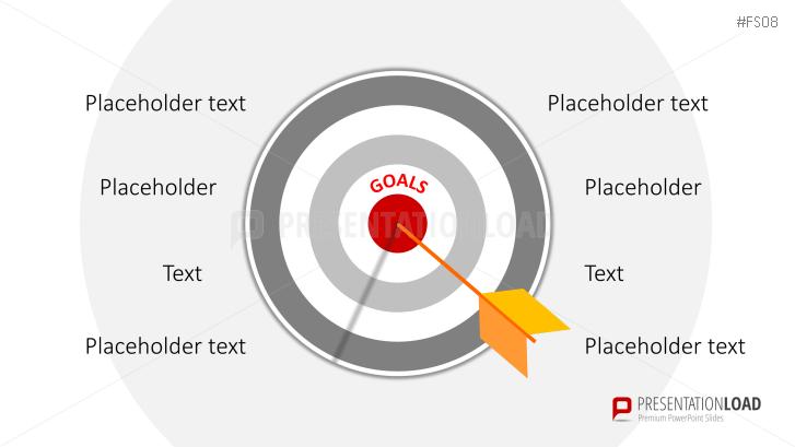 Kostenlose Flat-Design-Zielscheibe _http://www.presentationload.de/kostenlose-powerpoint-vorlagen-flat-design-zielscheibe.html
