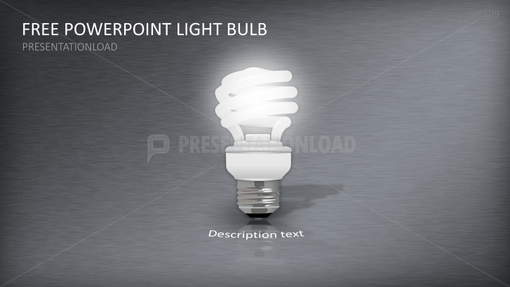 Free PowerPoint Template Light Bulb
