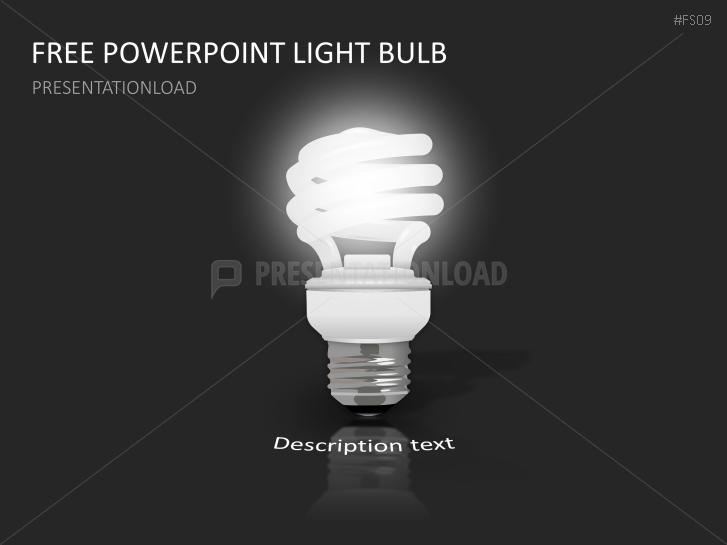 Presentationload Free Powerpoint Template Light Bulb