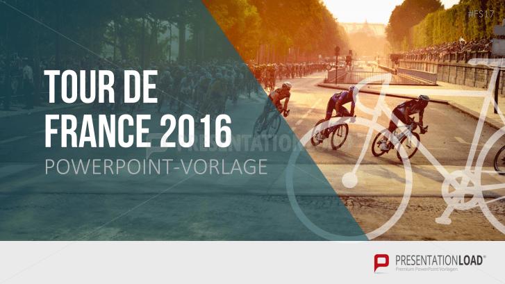 Kostenlose PowerPoint-Vorlage - Tour de France 2016