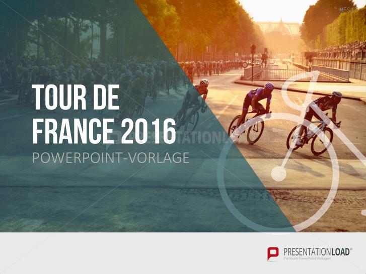 Kostenlose PowerPoint-Vorlage - Tour de France 2016 _http://www.presentationload.de/kostenlose-powerpoint-vorlage-tour-de-france-2016.html