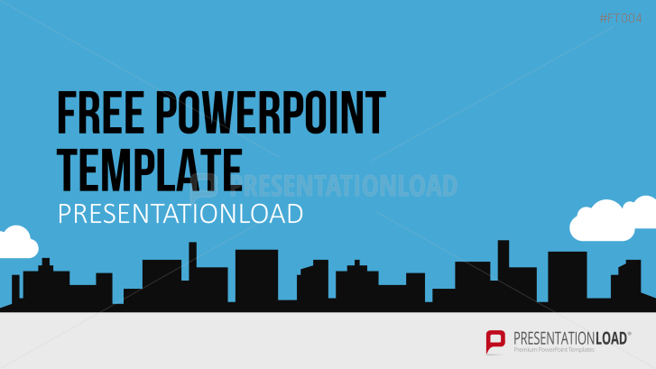 Free PowerPoint Template City Skyline
