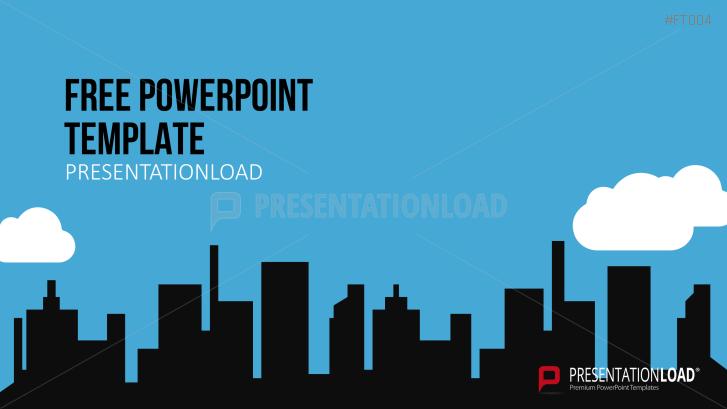 Presentationload Free Powerpoint Template City Skyline