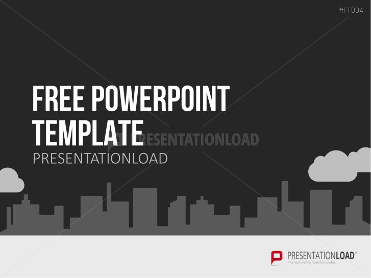 Presentationload Free Powerpoint Template City Skyline
