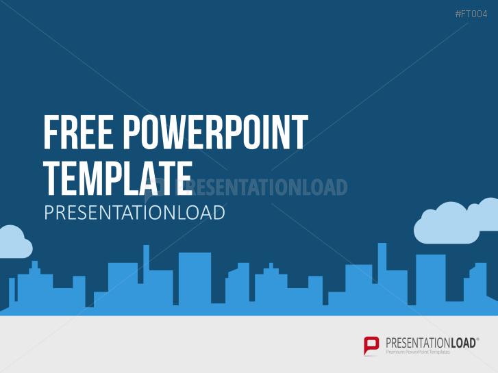 presentationload | free powerpoint template city skyline, Modern powerpoint