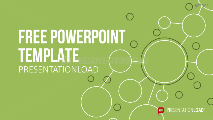 Free PowerPoint Template Green Path
