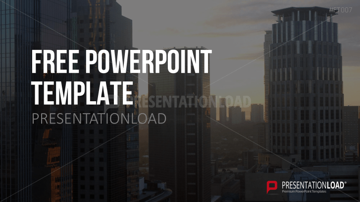 Free PowerPoint Template Skyline
