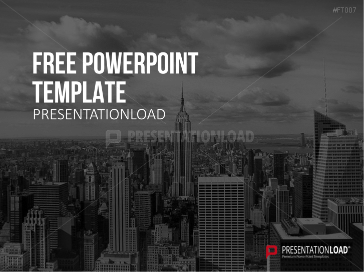 Presentationload free powerpoint template skyline toneelgroepblik Image collections