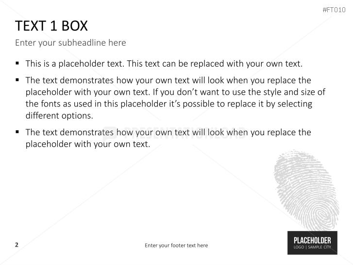 PresentationLoad | Free PowerPoint Template Fingerprint