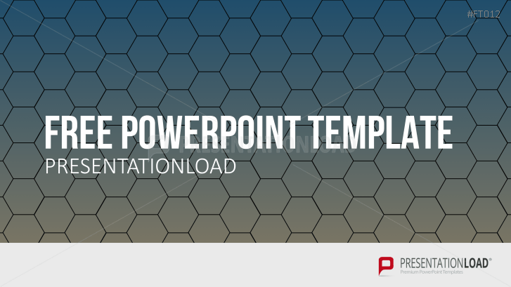 Free PowerPoint Template Honeycombs