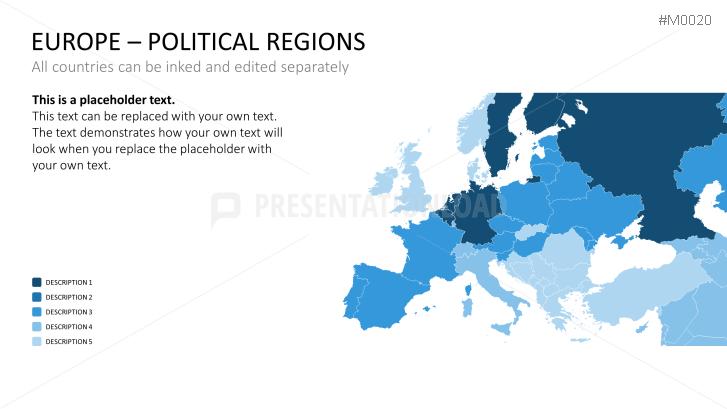 powerpoint map europe presentationload