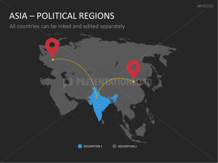 PowerPoint Map Asia | PresentationLoad
