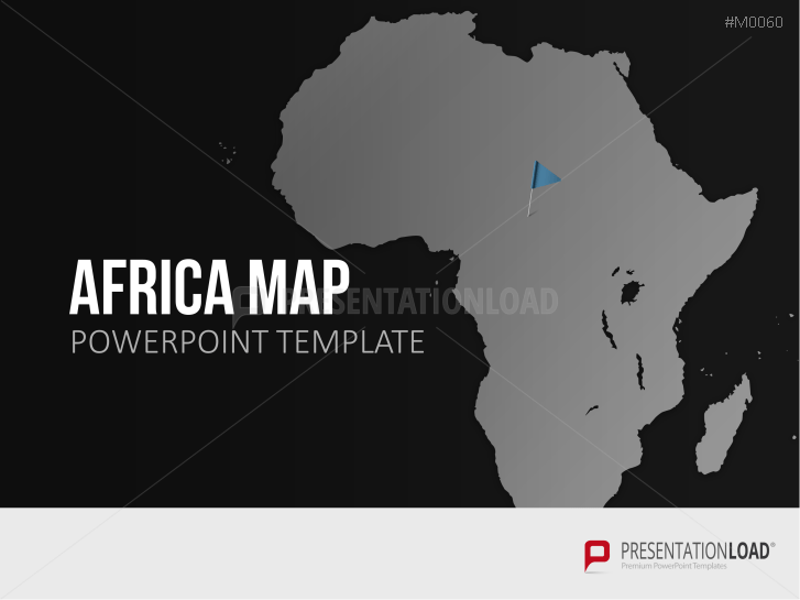 powerpoint maps of africa, emea region & african countries, Modern powerpoint