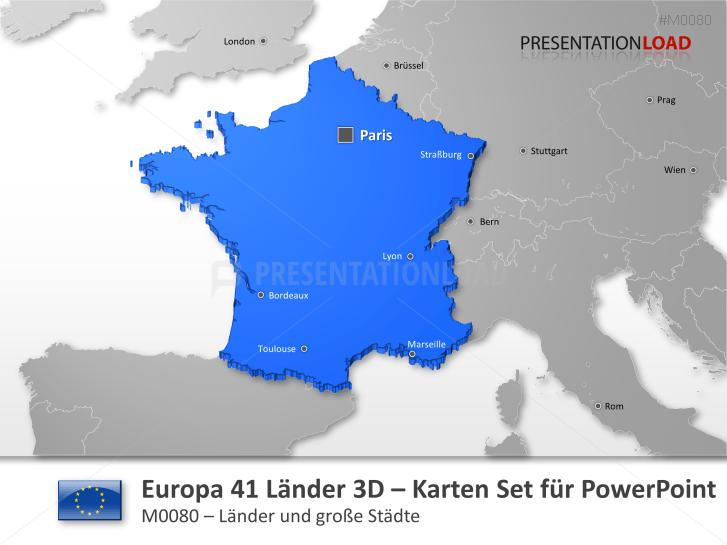 Europa - 41 Länder in 3D _http://www.presentationload.de/landkarte-europa-41-laender-3d.html