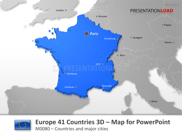 Powerpoint maps europe 41 countries in 3d httpspresentationload gumiabroncs Image collections