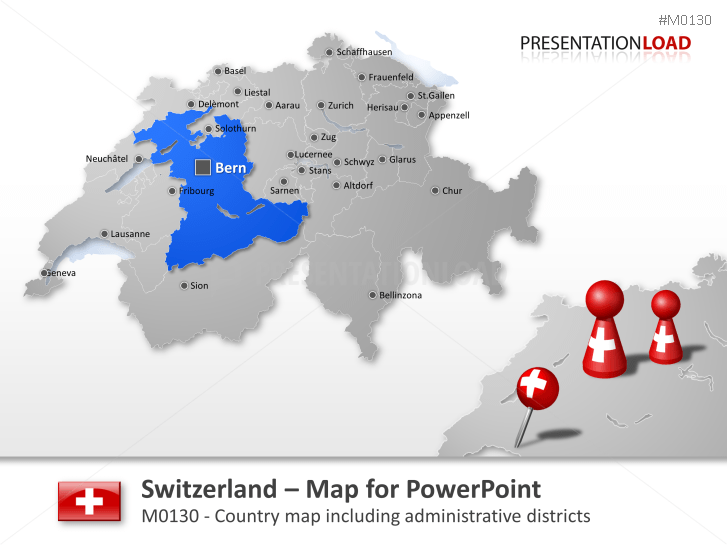 PowerPoint Map Switzerland PresentationLoad