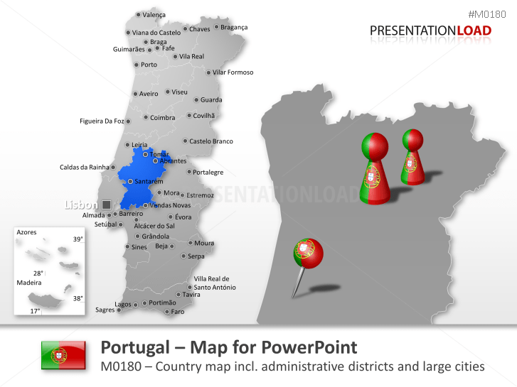 Portugal _https://www.presentationload.com/map-portugal.html