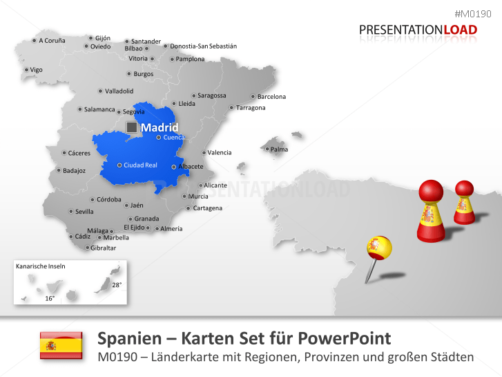 Spanien _http://www.presentationload.de/landkarte-spanien.html