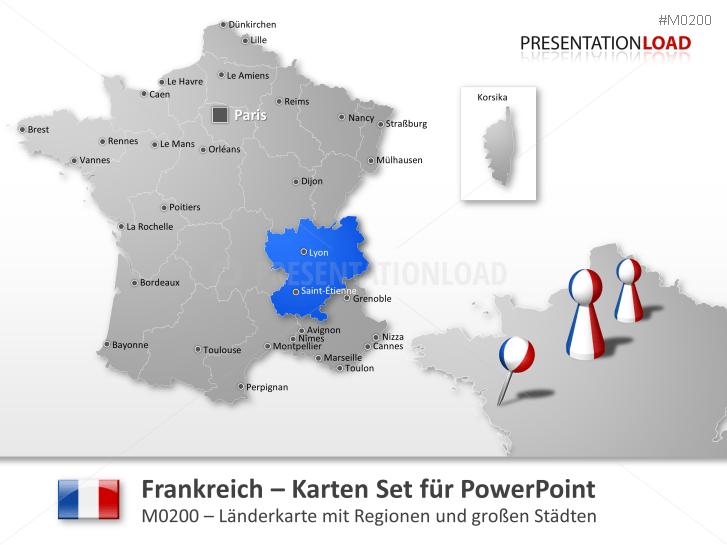 powerpoint landkarten von frankreich presentationload. Black Bedroom Furniture Sets. Home Design Ideas