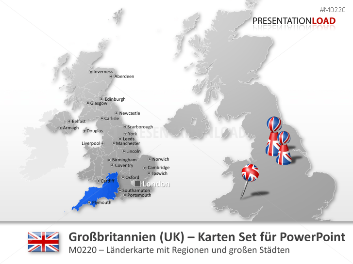 Großbritannien Karte Umriss.Powerpoint Landkarte Großbritannien Uk Presentationload