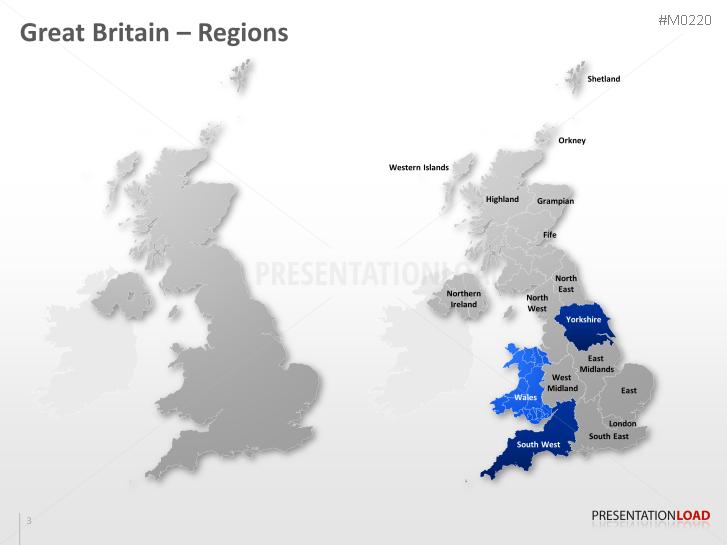 powerpoint map great britain uk presentationload