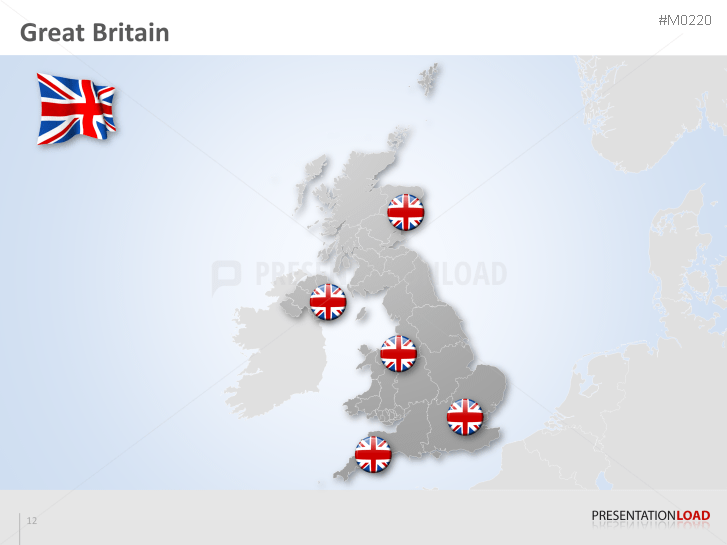 Map Of Uk For Powerpoint.Powerpoint Map Great Britain Uk Presentationload