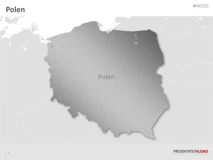 Polen Karte Umriss.Powerpoint Landkarte Polen Presentationload