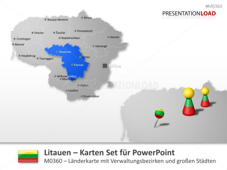 Litauen _https://www.presentationload.de/landkarte-litauen.html