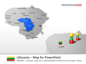 Lithuania _https://www.presentationload.com/map-lithuania.html