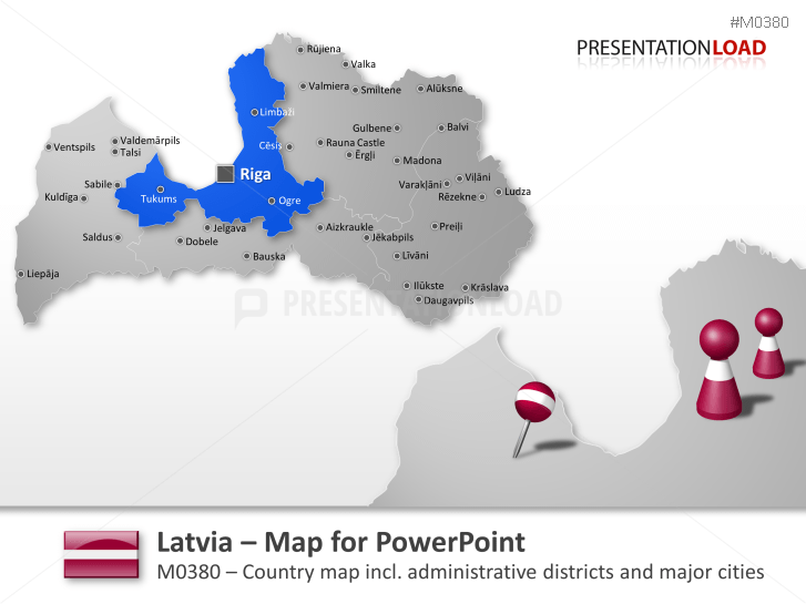 Latvia _https://www.presentationload.com/map-latvia.html
