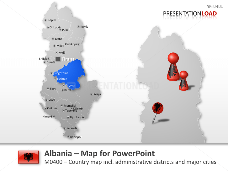 Albania _https://www.presentationload.com/map-albania.html