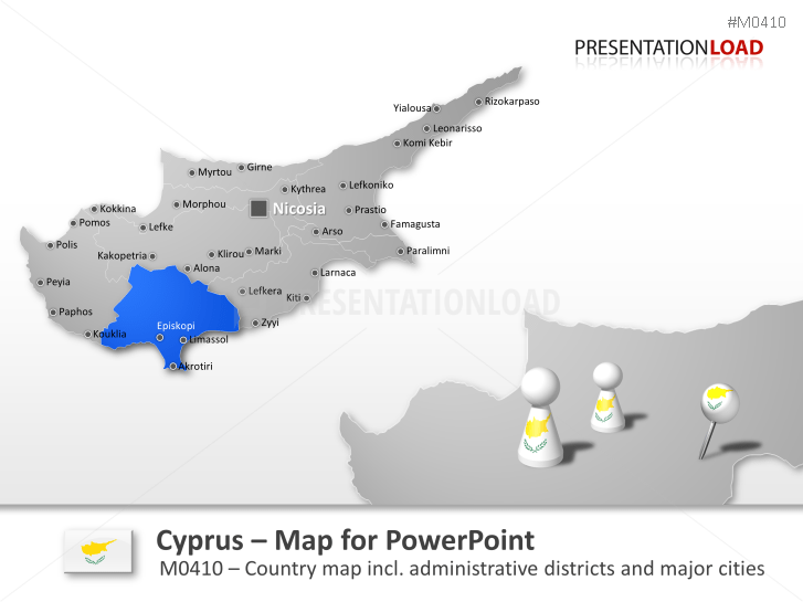 PowerPoint Map Cyprus PresentationLoad