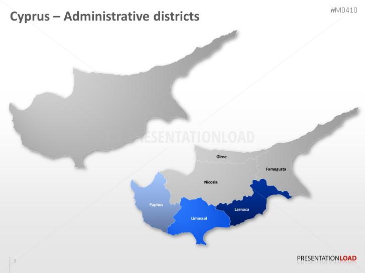 PowerPoint Map Cyprus PresentationLoad