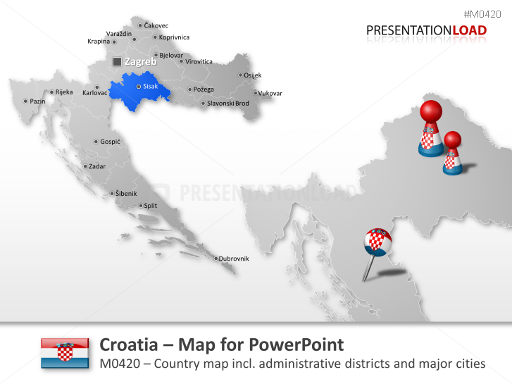 Croatia _https://www.presentationload.com/map-croatia.html