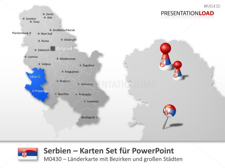 Serbien _https://www.presentationload.de/landkarte-serbien.html