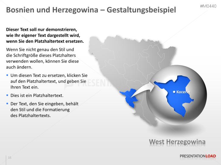PowerPoint Landkarte Bosnien-Herzegiwina | PresentationLoad