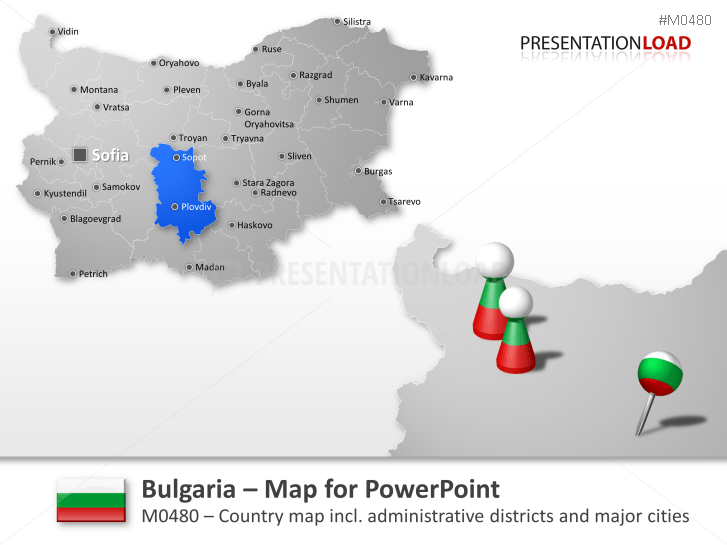 Bulgaria _https://www.presentationload.com/map-bulgaria.html