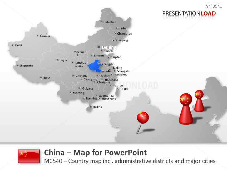 Powerpoint Map China Presentationload