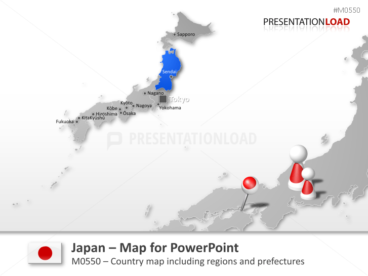 Powerpoint map japan presentationload japan gumiabroncs Images