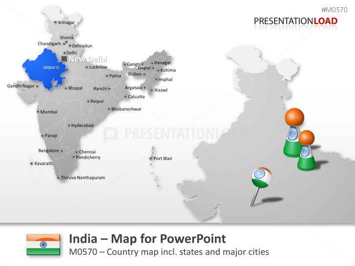 powerpoint map india presentationload