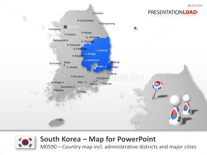 PowerPoint Map South Korea | PresentationLoad