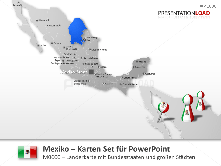Mexiko _https://www.presentationload.de/landkarte-mexiko.html
