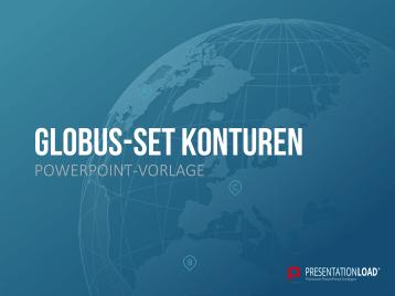 Globus-Set - Konturen _https://www.presentationload.de/globus-landkarten-set-konturen.html