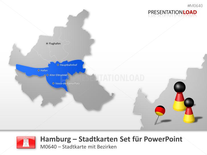 Hamburg - Stadtkarte