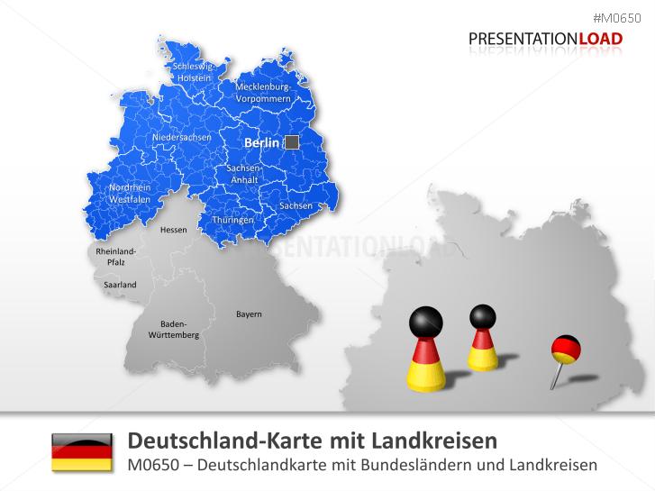 Deutschland Landkreise _http://www.presentationload.de/deutschlandkarte-landkreise.html