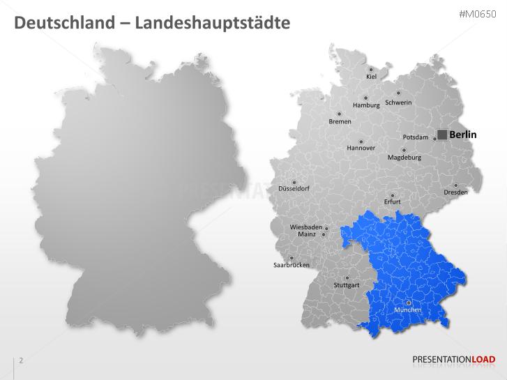 Digitale Plz Karte Deutschland Kostenlos.Powerpoint Landkarte Deutscher Landkreise Presentationload