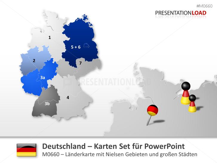 Deutschland - Nielsen Gebiete _http://www.presentationload.de/landkarte-deutschland-nielsen-gebiete.html