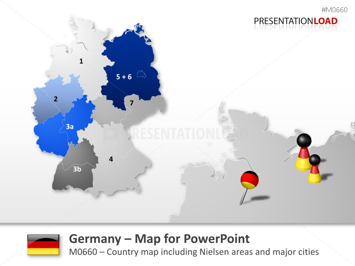 Germany - Nielsen  Areas _https://www.presentationload.com/map-germany-nielsen-areas.html