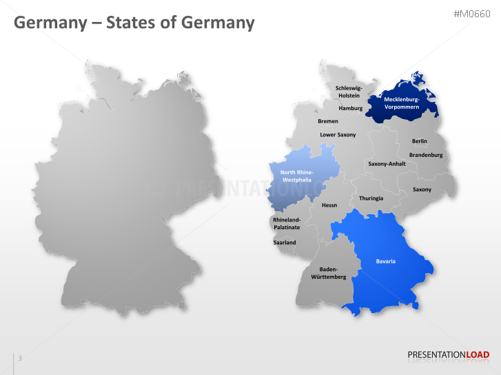 powerpoint map germany nielsen areas presentationload