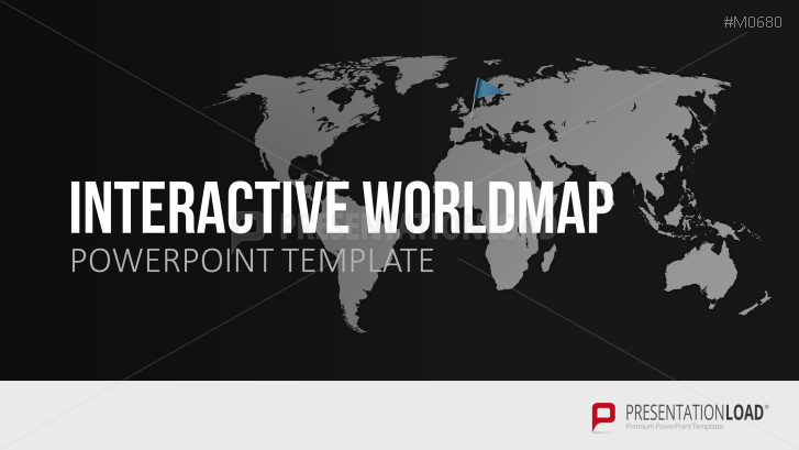 Interactive World Map For PowerPoint PresentationLoad - Interactive global map